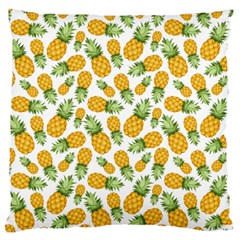 Pineapple Pattern Large Flano Cushion Case (two Sides) by goljakoff