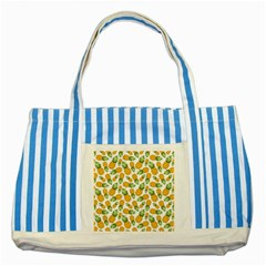 Pineapple Pattern Striped Blue Tote Bag by goljakoff