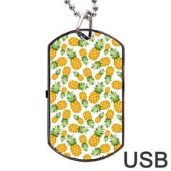 Pineapple Pattern Dog Tag Usb Flash (two Sides) by goljakoff