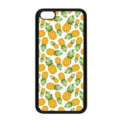 Pineapple Pattern Apple Iphone 5c Seamless Case (black) by goljakoff
