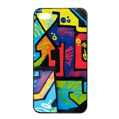 Urban Graffiti Movie Theme Produto Colorful Abstract Arrows Apple Iphone 4/4s Seamless Case (black) by MAGA