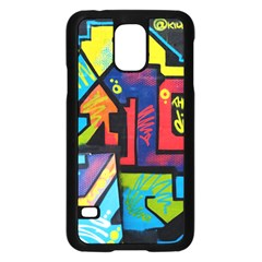 Urban Graffiti Movie Theme Produto Colorful Abstract Arrows Samsung Galaxy S5 Case (black)