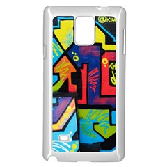 Urban Graffiti Movie Theme Produto Colorful Abstract Arrows Samsung Galaxy Note 4 Case (white) by MAGA
