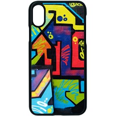 Urban Graffiti Movie Theme Produto Colorful Abstract Arrows Apple Iphone X Seamless Case (black) by MAGA