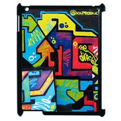 Urban Graffiti Movie Theme Productor Colorful Abstract Arrows Apple Ipad 2 Case (black) by MAGA