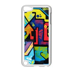 Urban Graffiti Movie Theme Productor Colorful Abstract Arrows Apple Ipod Touch 5 Case (white) by MAGA