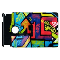 Urban Graffiti Movie Theme Productor Colorful Abstract Arrows Apple Ipad 3/4 Flip 360 Case by MAGA