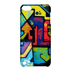 Urban Graffiti Movie Theme Productor Colorful Abstract Arrows Apple Ipod Touch 5 Hardshell Case With Stand