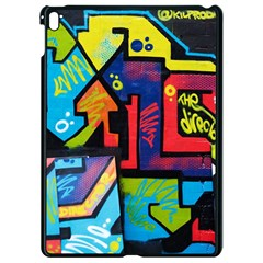 Urban Graffiti Movie Theme Productor Colorful Abstract Arrows Apple Ipad Pro 9 7   Black Seamless Case by MAGA