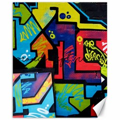 Urban Graffiti Movie Theme Productor Colorful Abstract Arrows Canvas 16  X 20   by MAGA