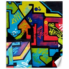 Urban Graffiti Movie Theme Productor Colorful Abstract Arrows Canvas 20  X 24   by MAGA
