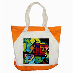Urban Graffiti Movie Theme Productor Colorful Abstract Arrows Accent Tote Bag