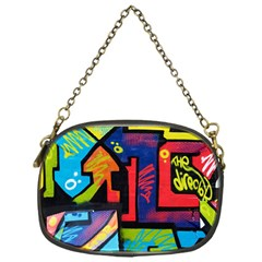 Urban Graffiti Movie Theme Productor Colorful Abstract Arrows Chain Purses (one Side)  by MAGA