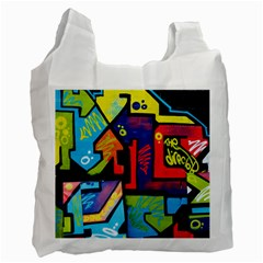 Urban Graffiti Movie Theme Productor Colorful Abstract Arrows Recycle Bag (two Side)  by genx