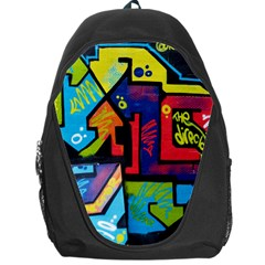 Urban Graffiti Movie Theme Productor Colorful Abstract Arrows Backpack Bag