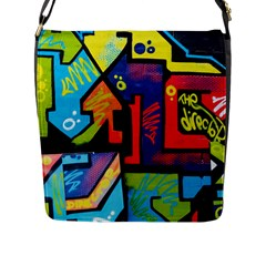 Urban Graffiti Movie Theme Productor Colorful Abstract Arrows Flap Messenger Bag (l)