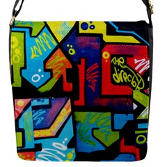 Urban Graffiti Movie Theme Productor Colorful Abstract Arrows Flap Messenger Bag (s) by MAGA