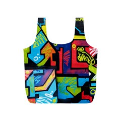 Urban Graffiti Movie Theme Productor Colorful Abstract Arrows Full Print Recycle Bags (s)