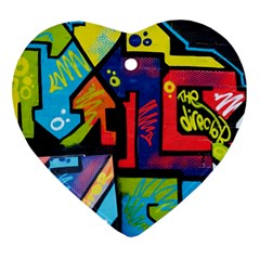 Urban Graffiti Movie Theme Productor Colorful Abstract Arrows Ornament (heart) by MAGA
