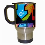 Urban Graffiti Movie Theme Productor Colorful Abstract arrows Travel Mugs (White) Left