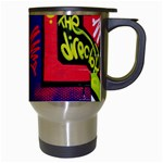 Urban Graffiti Movie Theme Productor Colorful Abstract arrows Travel Mugs (White) Right