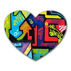 Urban Graffiti Movie Theme Productor Colorful Abstract Arrows Heart Mousepads by MAGA
