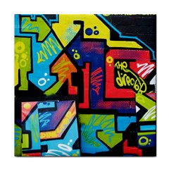 Urban Graffiti Movie Theme Productor Colorful Abstract Arrows Face Towel