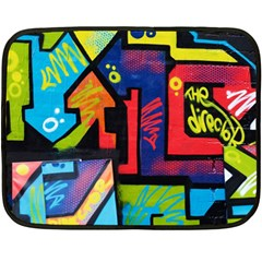 Urban Graffiti Movie Theme Productor Colorful Abstract Arrows Fleece Blanket (mini) by MAGA