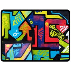 Urban Graffiti Movie Theme Productor Colorful Abstract Arrows Fleece Blanket (large)  by MAGA