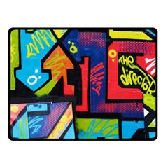 Urban Graffiti Movie Theme Productor Colorful Abstract Arrows Fleece Blanket (small) by MAGA