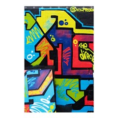 Urban Graffiti Movie Theme Productor Colorful Abstract Arrows Shower Curtain 48  X 72  (small)