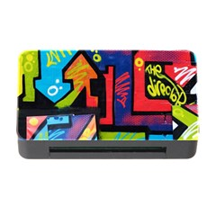 Urban Graffiti Movie Theme Productor Colorful Abstract Arrows Memory Card Reader With Cf by genx