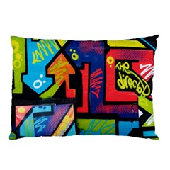 Urban Graffiti Movie Theme Productor Colorful Abstract Arrows Pillow Case (two Sides)