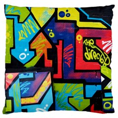 Urban Graffiti Movie Theme Productor Colorful Abstract Arrows Large Cushion Case (one Side) by genx