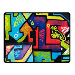 Urban Graffiti Movie Theme Productor Colorful Abstract Arrows Double Sided Fleece Blanket (small)  by MAGA