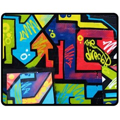 Urban Graffiti Movie Theme Productor Colorful Abstract Arrows Double Sided Fleece Blanket (medium)  by MAGA