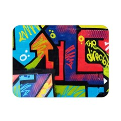 Urban Graffiti Movie Theme Productor Colorful Abstract Arrows Double Sided Flano Blanket (mini)  by MAGA