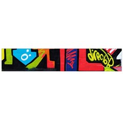 Urban Graffiti Movie Theme Productor Colorful Abstract Arrows Flano Scarf (large)  by MAGA