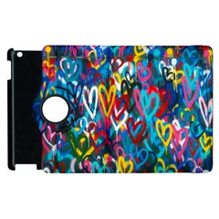 Graffiti Hearts Street Art Spray Paint Rad  Apple Ipad 3/4 Flip 360 Case by MAGA