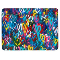 Graffiti Hearts Street Art Spray Paint Rad  Samsung Galaxy Tab 7  P1000 Flip Case by MAGA