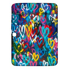 Graffiti Hearts Street Art Spray Paint Rad  Samsung Galaxy Tab 3 (10 1 ) P5200 Hardshell Case  by MAGA