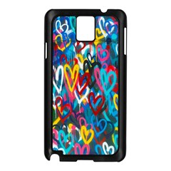 Graffiti Hearts Street Art Spray Paint Rad  Samsung Galaxy Note 3 N9005 Case (black) by MAGA