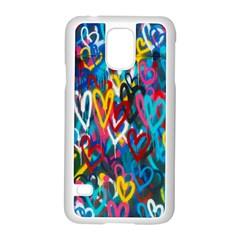 Graffiti Hearts Street Art Spray Paint Rad  Samsung Galaxy S5 Case (white)