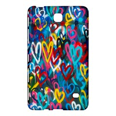 Graffiti Hearts Street Art Spray Paint Rad  Samsung Galaxy Tab 4 (7 ) Hardshell Case  by MAGA