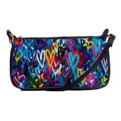 Graffiti Hearts Street Art Spray Paint Rad Shoulder Clutch Bags