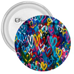 Graffiti Hearts Street Art Spray Paint Rad 3  Buttons by MAGA