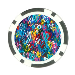 Graffiti Hearts Street Art Spray Paint Rad Poker Chip Card Guard (10 Pack) by MAGA