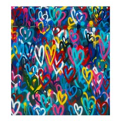 Graffiti Hearts Street Art Spray Paint Rad Shower Curtain 66  X 72  (large)