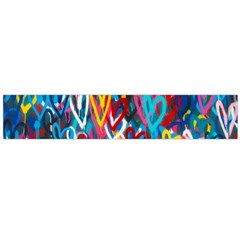 Graffiti Hearts Street Art Spray Paint Rad Flano Scarf (large)  by snek