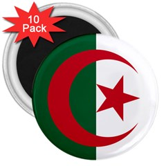 Roundel Of Algeria Air Force 3  Magnets (10 Pack)  by abbeyz71